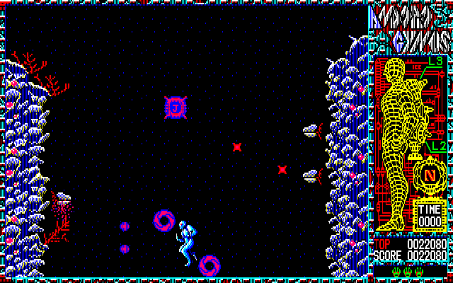 Han-Seimei Senki Andorogynus PC-88 Second stage begins
