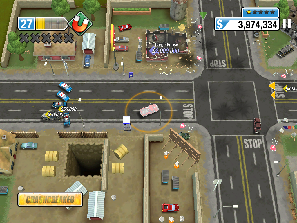 Burnout Crash! iPad After a while the cops come look what's going on.
