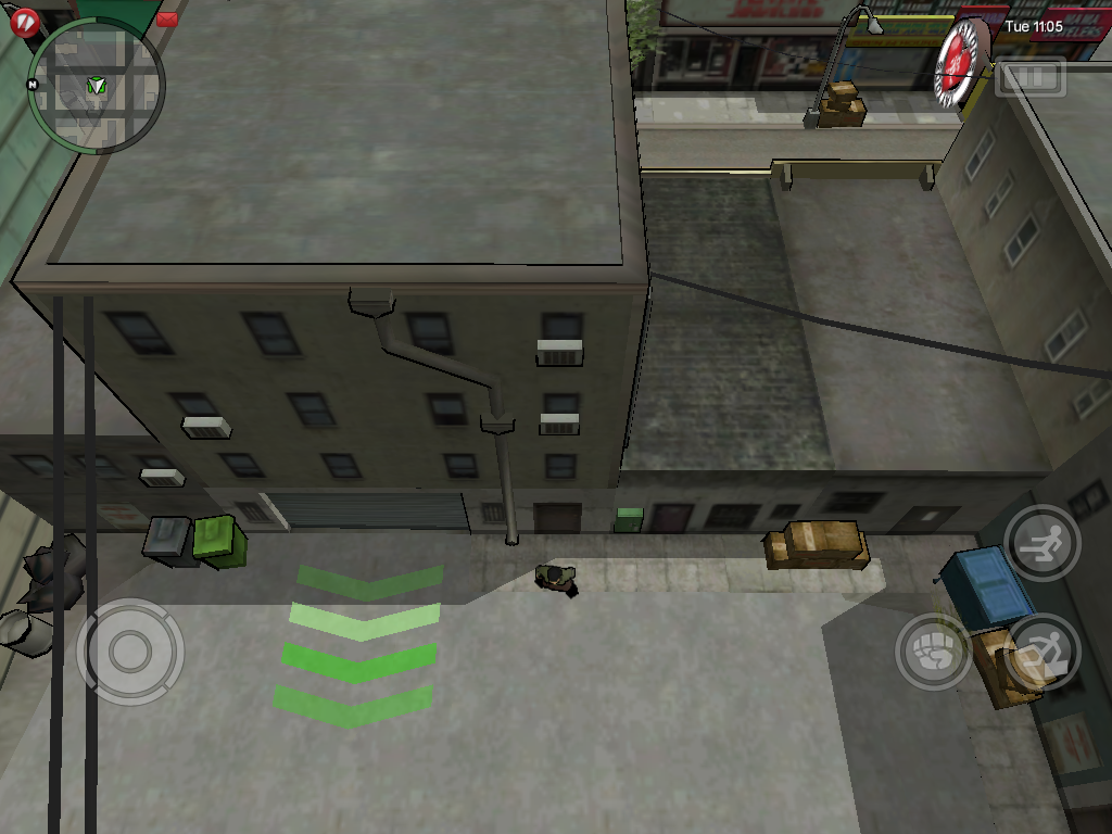 Grand Theft Auto: Chinatown Wars iPad Stepping outside.