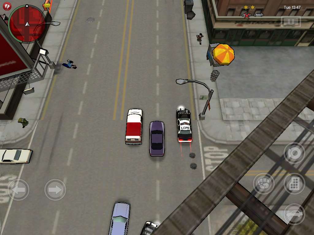 Grand Theft Auto: Chinatown Wars iPad Chased by the police.