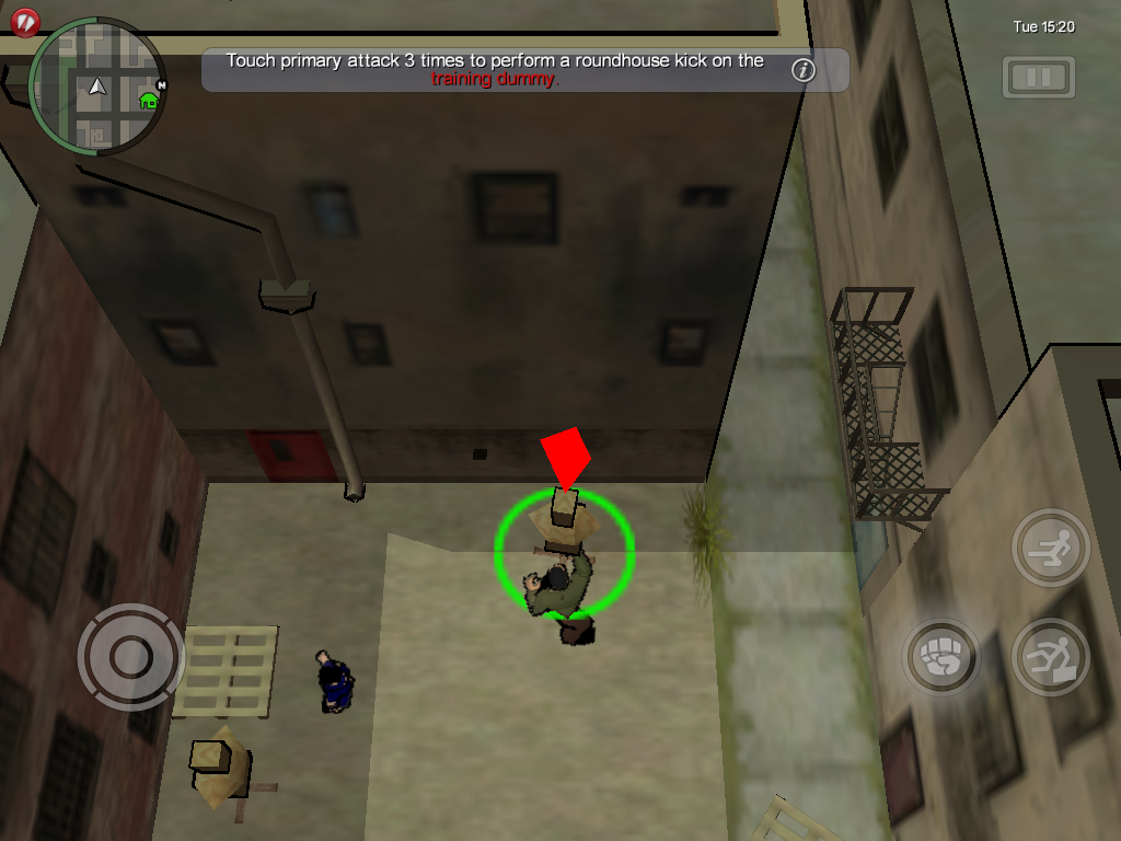 Grand Theft Auto: Chinatown Wars iPad Learning hand-to-hand combat.