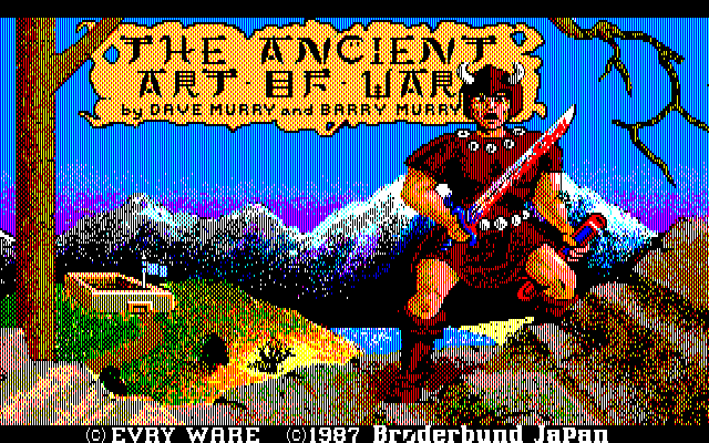 The Ancient Art of War PC-88 Title screen