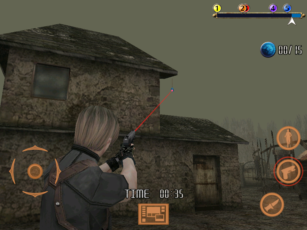 Resident Evil 4: Mobile Edition iPad Coin shoot mode