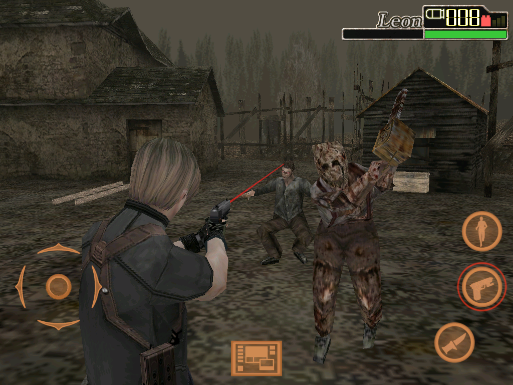 Resident Evil 4: Mobile Edition iPad Chainsaw-wielding zombie