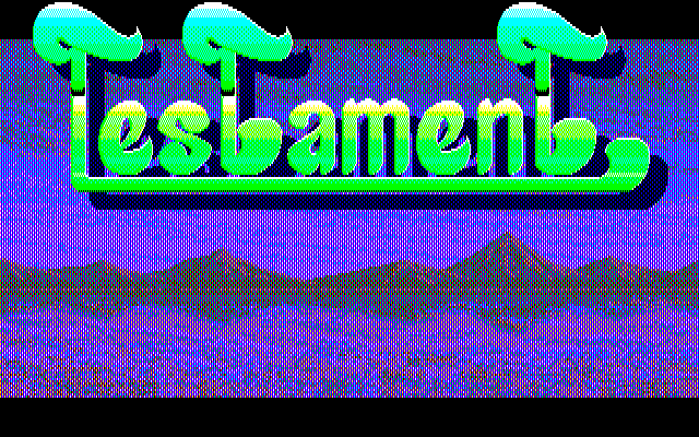 Testament PC-88 Title screen