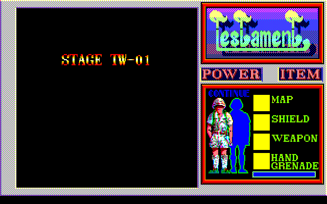Testament PC-88 A stage begins