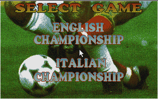 Soccer Team Manager DOS Choosing English or Italian Championship.