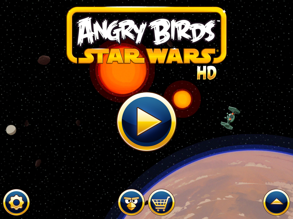 Angry Birds: Star Wars iPad Main menu