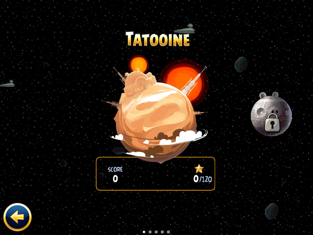 Angry Birds: Star Wars iPad Chapter selection