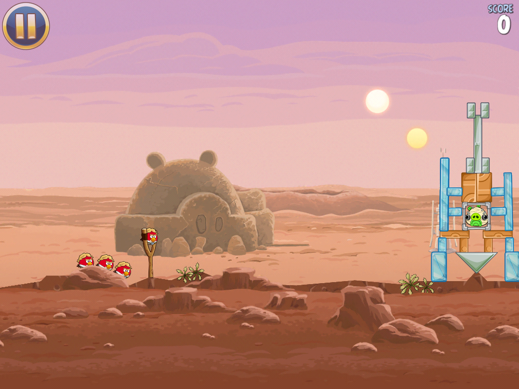 Angry Birds: Star Wars iPad Angry Birds on Tatooine