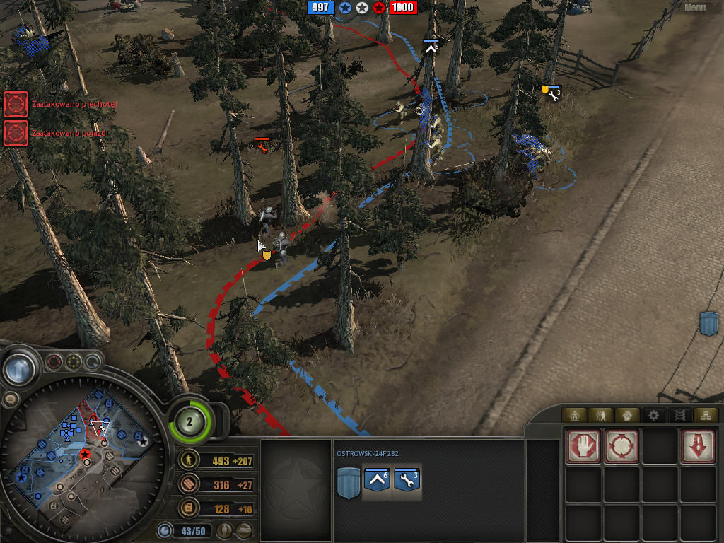 Company of Heroes: Tales of Valor Windows blood in forest...