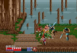 Golden Axe II Genesis journey trought the forest... and little, small battle... of course