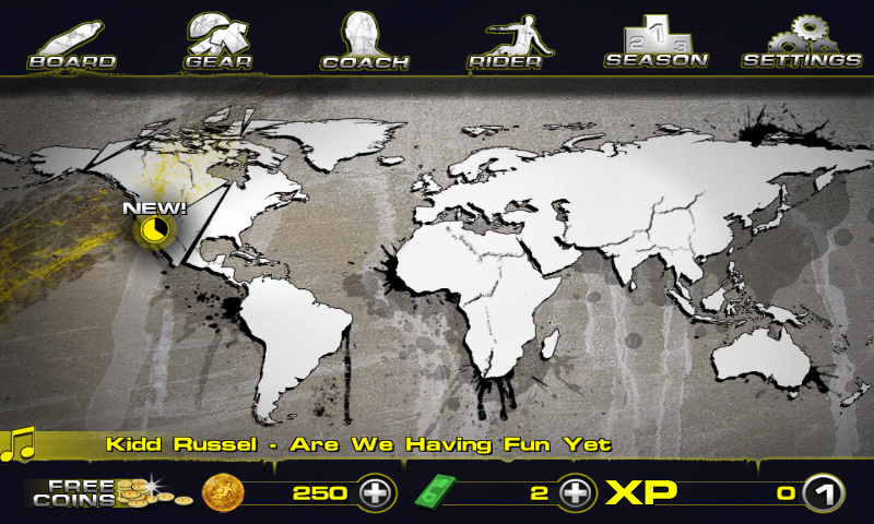 Downhill Xtreme Android Main menu