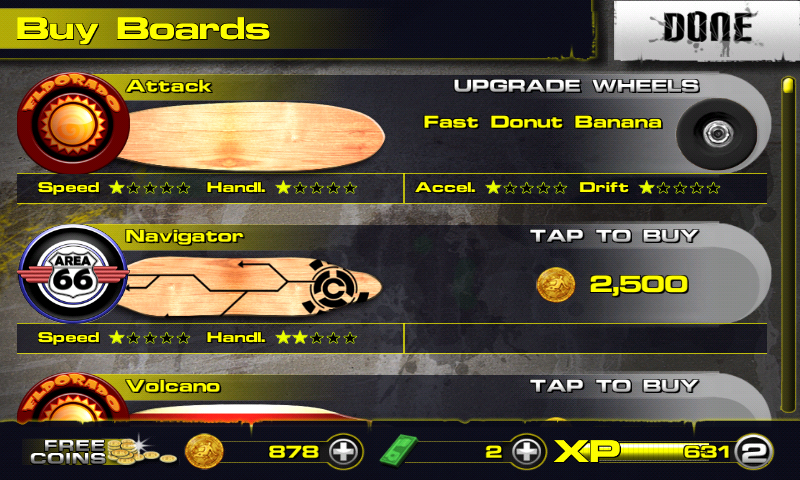 Downhill Xtreme Android Board shop