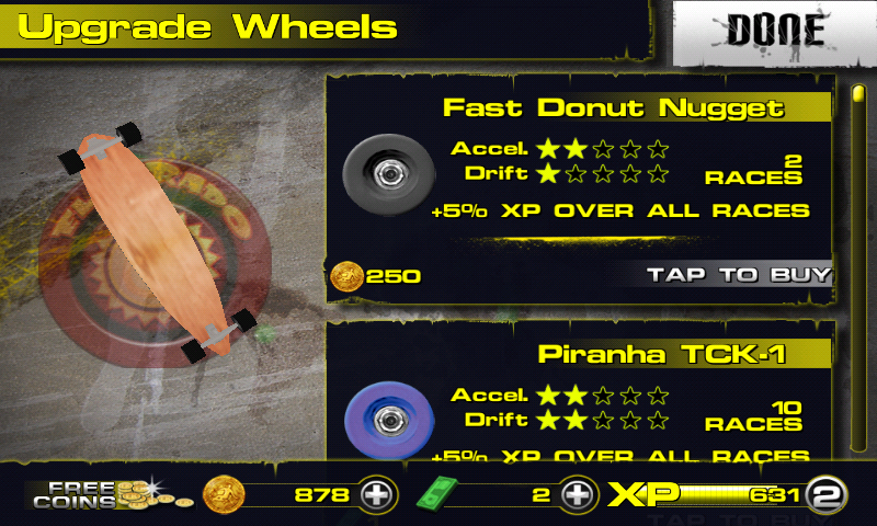 Downhill Xtreme Android Upgrading wheels.