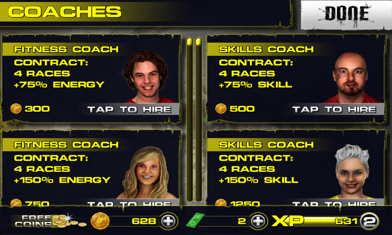 Downhill Xtreme Android Coaches can be hired.