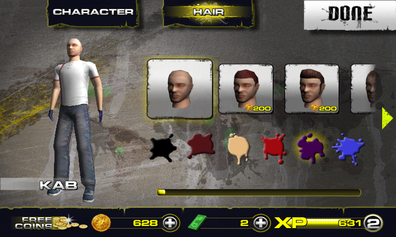 Downhill Xtreme Android Character customization
