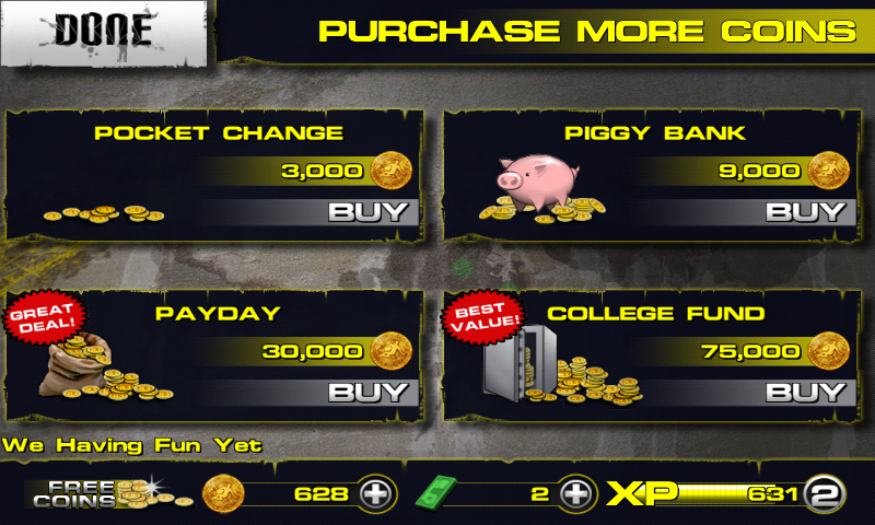 Downhill Xtreme Android Buy gold through IAPs.