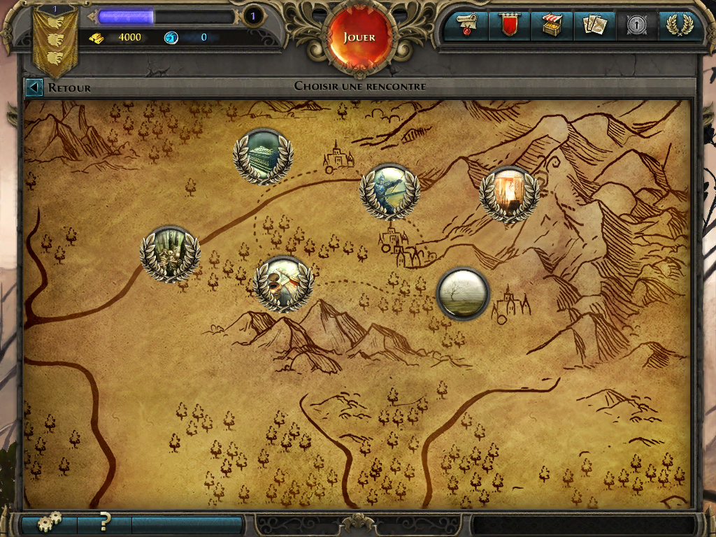 Might & Magic: Duel of Champions iPad Playing the single-player campaign.