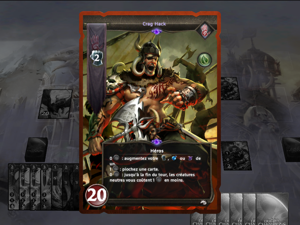 Might & Magic: Duel of Champions iPad Crag Hack, a classic character of Might & Magic, has his own card.