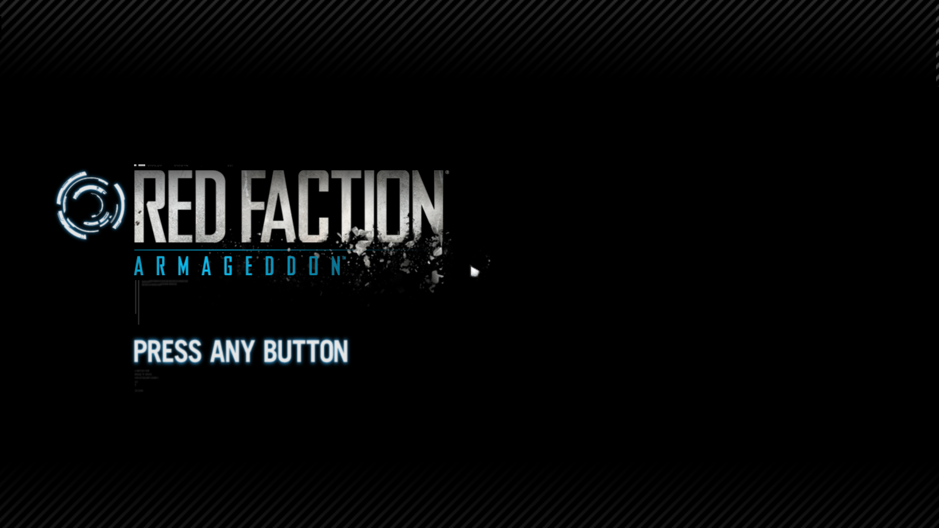 Red Faction: Armageddon Windows Title screen