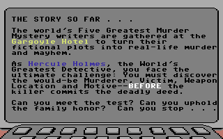 Killed Until Dead Commodore 64 The story so far...