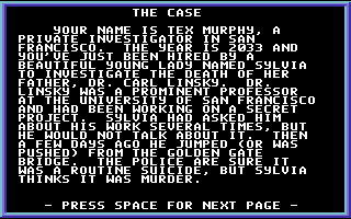 Mean Streets Commodore 64 The story so far...