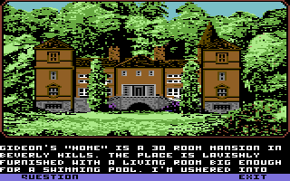 Mean Streets Commodore 64 J. Saint Gideon's mansion.