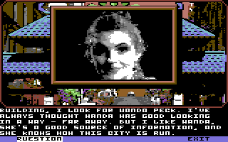 Mean Streets Commodore 64 Wanda Peck - Newspaper reporter.