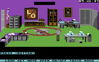 Mean Streets Commodore 64 Law and Order office.