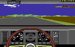 The Duel: Test Drive II Car Disk - The Muscle Cars Commodore 64 Camaro dashboard.