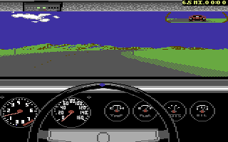 The Duel: Test Drive II Car Disk - The Muscle Cars Commodore 64 Dodge Charger dashboard.