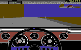 The Duel: Test Drive II Car Disk - The Muscle Cars Commodore 64 Mustang dashboard.