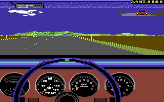 The Duel: Test Drive II Car Disk - The Muscle Cars Commodore 64 GTO dashboard.