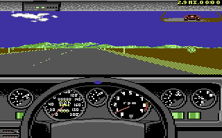 Test Drive II Car Disk: The Supercars Commodore 64 Lamborghini Countach dashboard