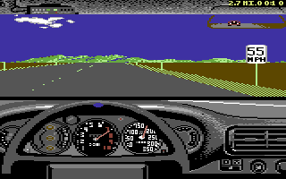 Test Drive II Car Disk: The Supercars Commodore 64 RUF Twin Turbo dashboard