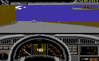 Test Drive II Car Disk: The Supercars Commodore 64 Corvette ZR1 dashboard