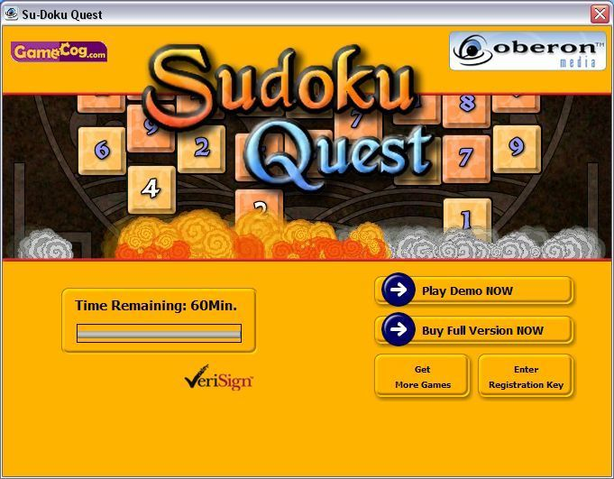 Sudoku Quest Windows This version of the game installs in a time limited shareware form