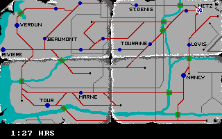 The Train: Escape to Normandy DOS Map.