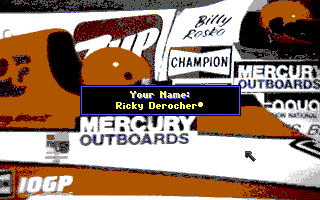 Heat Wave: Offshore Superboat Racing Amiga Registering my name.