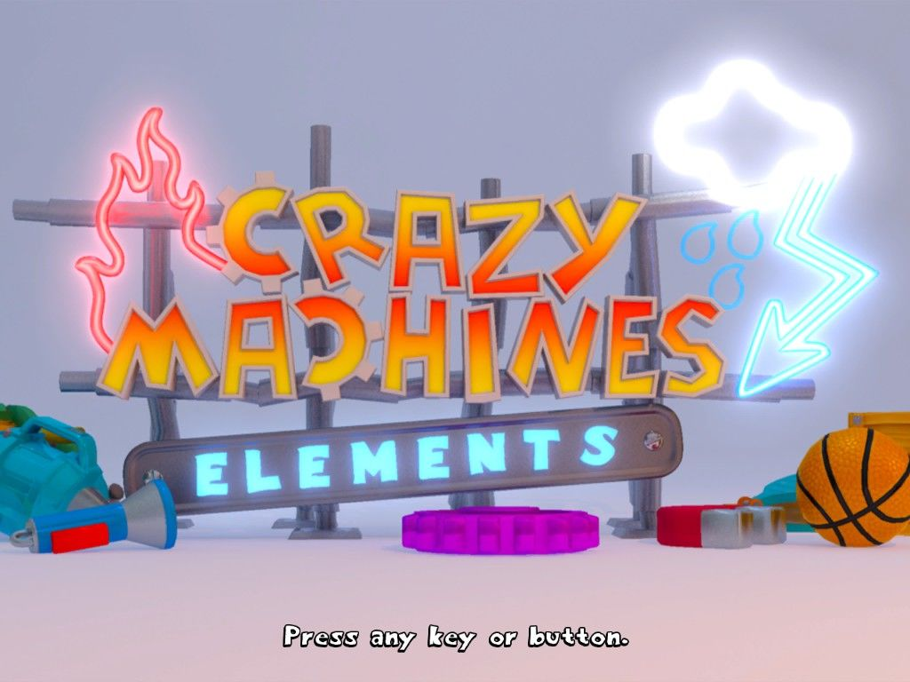 Crazy Machines: Elements Windows Title screen