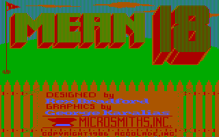 Mean 18 DOS Title screen (CGA with RGB monitor) (*This is from Original CGA)