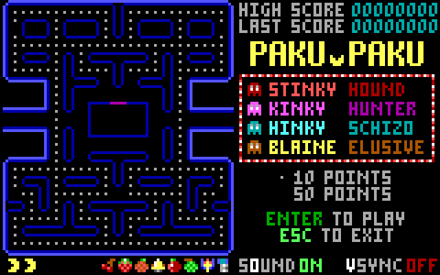 Paku Paku DOS Title Screen / Initial version 1.0