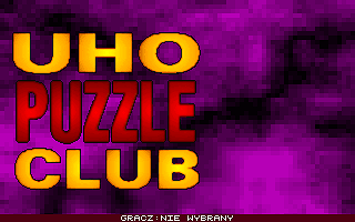 3x Logic Games DOS Uho Puzzle Club: title screen