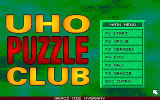 3x Logic Games DOS Uho Puzzle Club: main menu