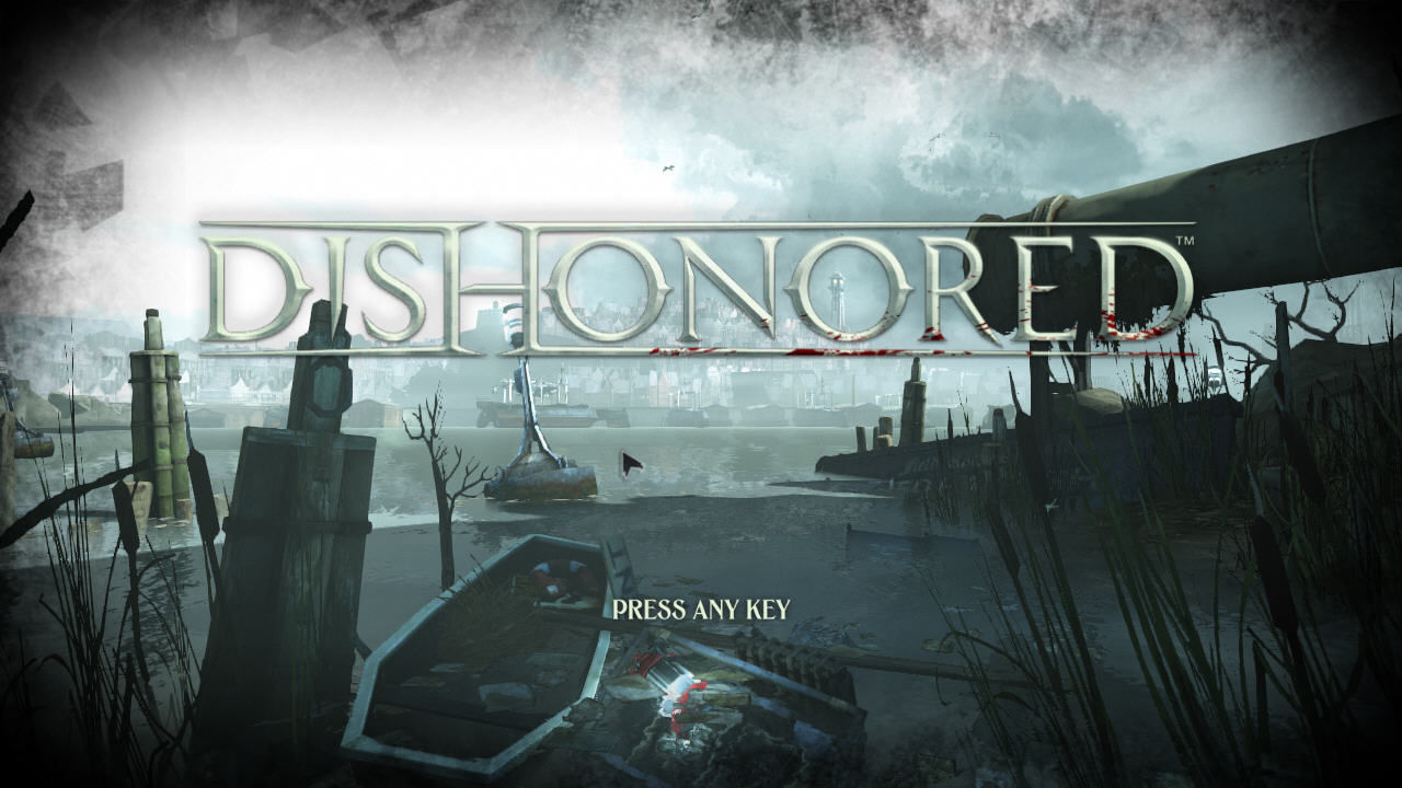 Dishonored Windows Title screen