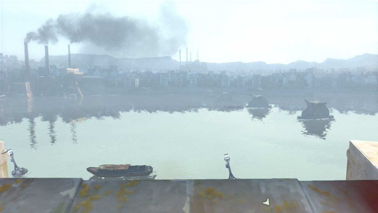 Dishonored Windows Corvo decides to wait with the actual quest. He goes to the docks and looks at the water...