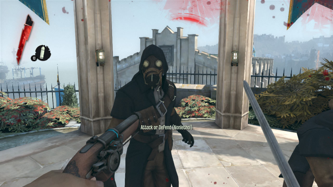 Dishonored Windows Combat is based on dual-wielding pistols and blades, as well as blocking