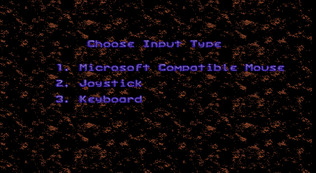 Xmas Lemmings DOS Choose an input device.