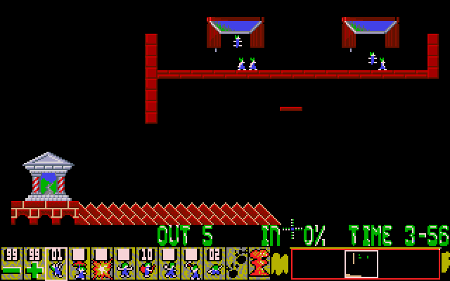Oh No! More Lemmings DOS Crazy - Level 2